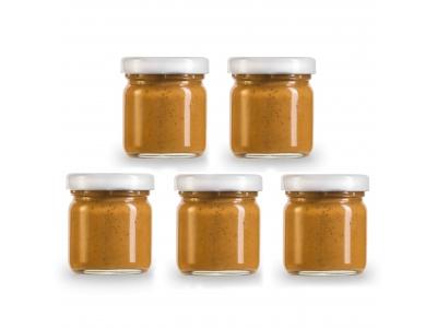 Pindakaas proefpakket met 5 smaken in mini potjes (giftset)