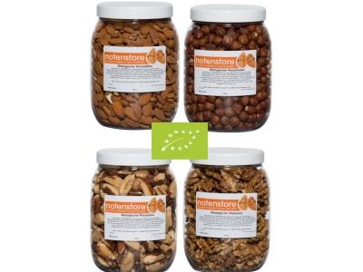 Voordeelpakket biologische noten 2 (amandelen, pecannoten, paranoten en walnoten)