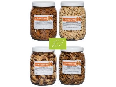 Voordeelpakket biologische noten 3 (amandelen, cashewnoten, paranoten en walnoten)