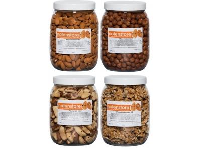 Voordeelpakket noten 1 (amandelen, hazelnoten, paranoten en walnoten)