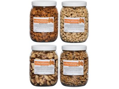 Voordeelpakket noten 3 (amandelen, cashewnoten, paranoten en walnoten)