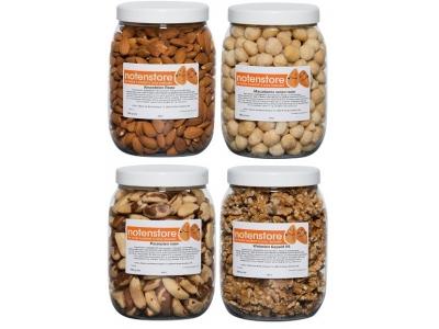 Voordeelpakket noten 4 (amandelen, macadamia, paranoten en walnoten)